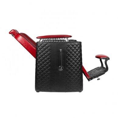 Barberio krėslas GABBIANO BERNARDO, juodos/raudonos sp. 3