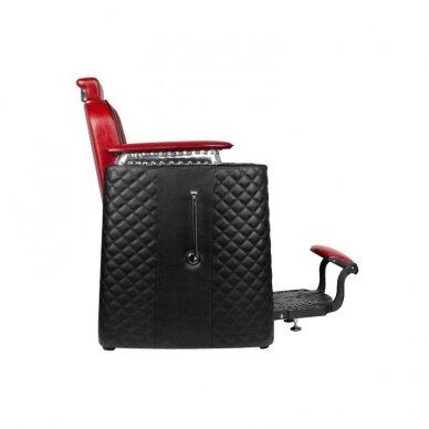 Barberio krėslas GABBIANO BERNARDO, juodos/raudonos sp. 4
