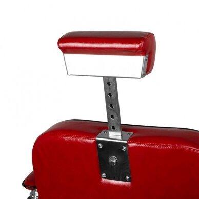 Barberio krėslas GABBIANO BERNARDO, juodos/raudonos sp. 5