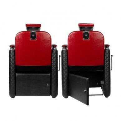 Barberio krėslas GABBIANO BERNARDO, juodos/raudonos sp. 6