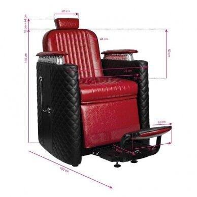 Barberio krėslas GABBIANO BERNARDO, juodos/raudonos sp. 7