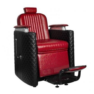 Barberio krėslas GABBIANO BERNARDO, juodos/raudonos sp.