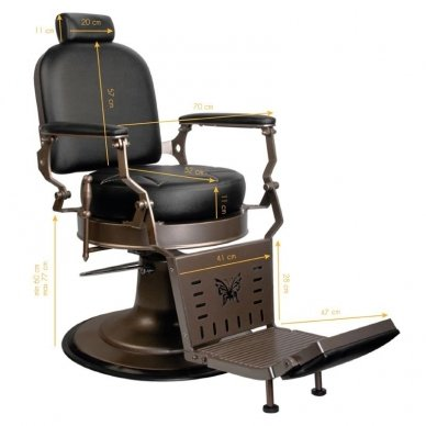Barberio krėslas GABBIANO BLACK STAR, juodos sp. 2