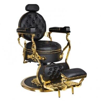 Barberio krėslas GABBIANO CESARE, juodos/aukso sp. 2