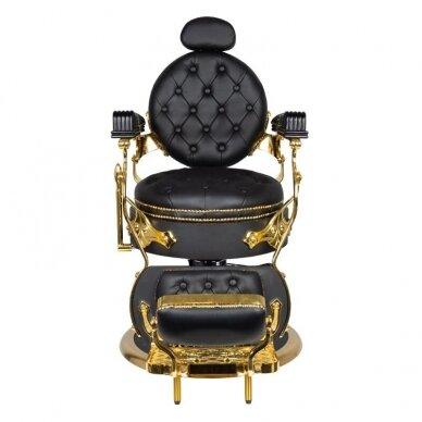 Barberio krėslas GABBIANO CESARE, juodos/aukso sp. 3