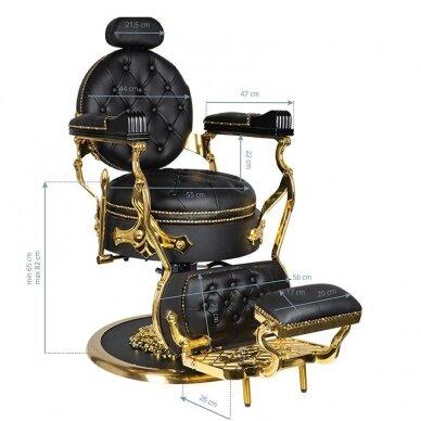 Barberio krėslas GABBIANO CESARE, juodos/aukso sp. 8