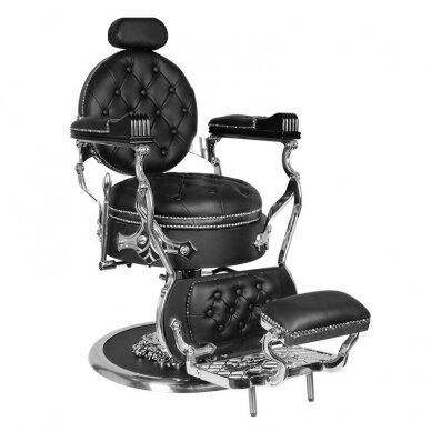 Barberio krėslas GABBIANO CESARE, juodos/sidabro sp. 2