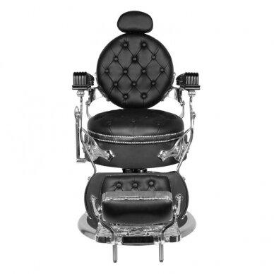 Barberio krėslas GABBIANO CESARE, juodos/sidabro sp. 3