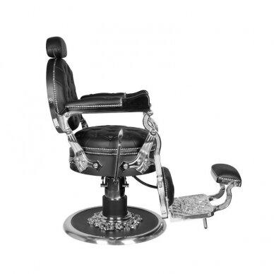 Barberio krėslas GABBIANO CESARE, juodos/sidabro sp. 4