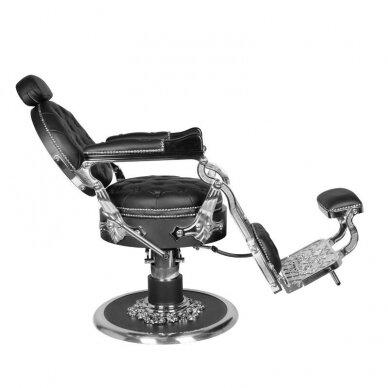 Barberio krėslas GABBIANO CESARE, juodos/sidabro sp. 5
