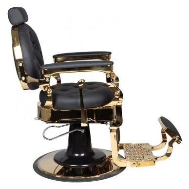Barberio krėslas GABBIANO CLAUDIUS, juodos/aukso sp. 3