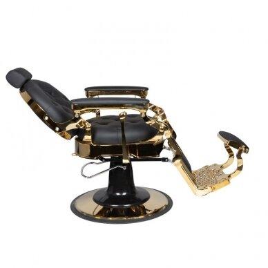 Barberio krėslas GABBIANO CLAUDIUS, juodos/aukso sp. 4