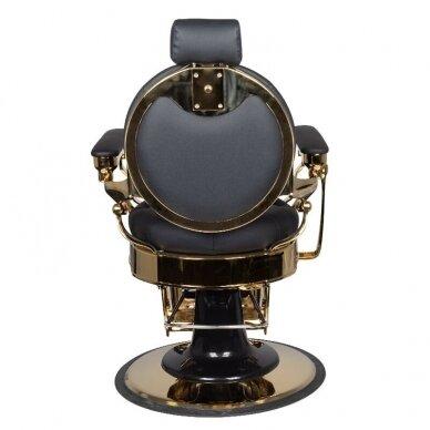 Barberio krėslas GABBIANO CLAUDIUS, juodos/aukso sp. 5