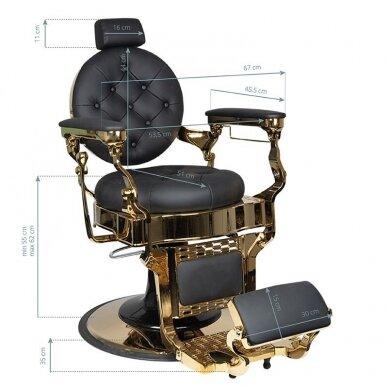 Barberio krėslas GABBIANO CLAUDIUS, juodos/aukso sp. 7