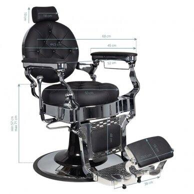 Barberio krėslas GABBIANO CLAUDIUS, juodos/sidabro sp. 7