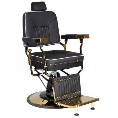 Barberio krėslas GABBIANO FILIPPO, juodos/aukso sp.