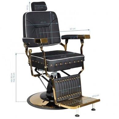 Barberio krėslas GABBIANO FILIPPO, juodos/aukso sp. 6