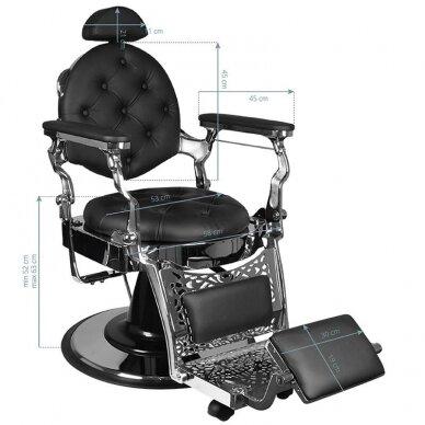 Barberio krėslas GABBIANO GIULIO, juodos/sidabro sp. 6