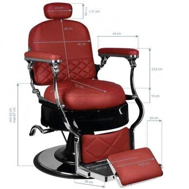 Barberio krėslas GABBIANO VITO, raudonos sp. 8