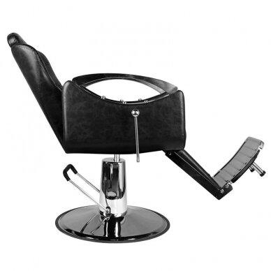 Barberio krėslas HAIR SYSTEM SM107, juodos sp. 4