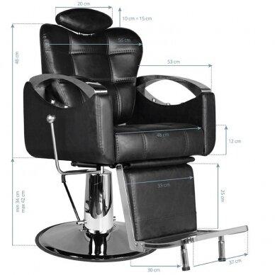 Barberio krėslas HAIR SYSTEM SM107, juodos sp. 2