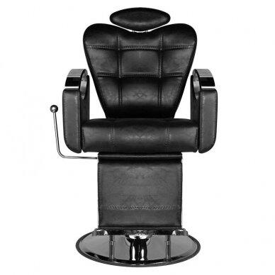 Barberio krėslas HAIR SYSTEM SM107, juodos sp. 3