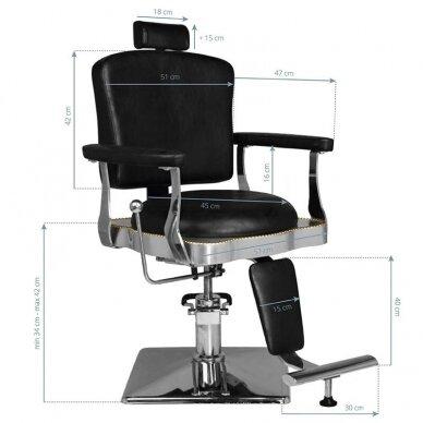 Barberio krėslas HAIR SYSTEM  SM180, juodos sp. 6