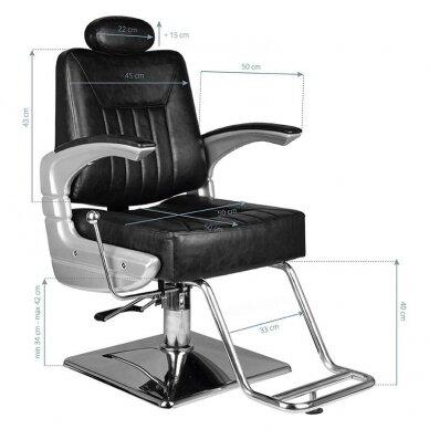 Barberio krėslas HAIR SYSTEM SM182, juodos sp. 7
