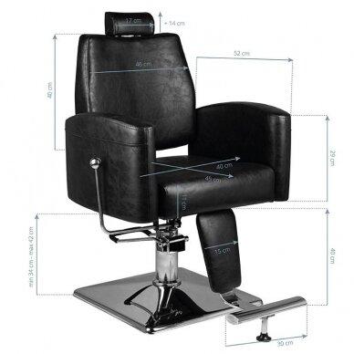 Barberio krėslas HAIR SYSTEM SM184, juodos sp. 6
