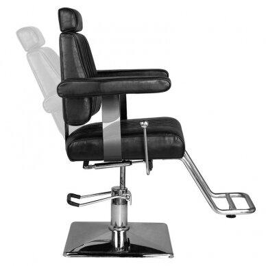 Barberio krėslas HAIR SYSTEM SM185, juodos sp. 7