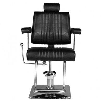 Barberio krėslas HAIR SYSTEM SM185, juodos sp. 2