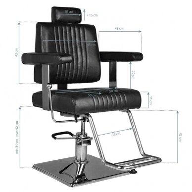 Barberio krėslas HAIR SYSTEM SM185, juodos sp. 8
