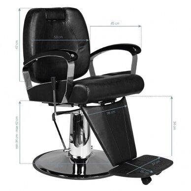 Barberio krėslas SM101, juodos sp. 7