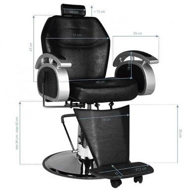 Barberio krėslas SM106, juodos sp. 6