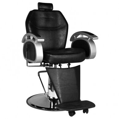 Barberio krėslas SM106, juodos sp.
