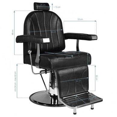 Barberio krėslas SM138, juodos sp. 7