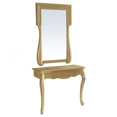 Barokinio stiliaus veidrodžio ir staliuko komplektas