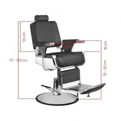 Barzdos kirpėjo kėde  ROYAL II , juodos spalvos. 2