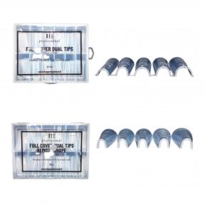 Bee Professional Full Cover Dual Tips Set/ Pilno dengimo viršutinių formelių rinkinys (kvadratui bei migdolui)