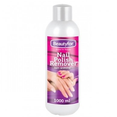 Beautyfor nagų lako valiklis (BEACETONIS), 1000 ml