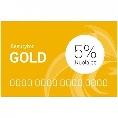 Beautyfor 5% GOLD kliento nuolaidų kortelė 2