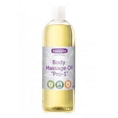 Beautyfor aliejus masažui PRO1, 1000 ml