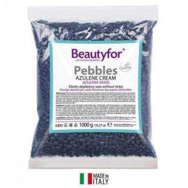 Beautyfor AZULENO vaškas granulėmis, 1 kg