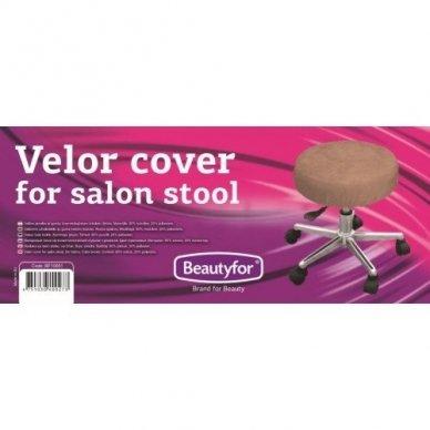 Beautyfor veliūrinis užvalkalėlis meistro kėdutei, rudos sp.