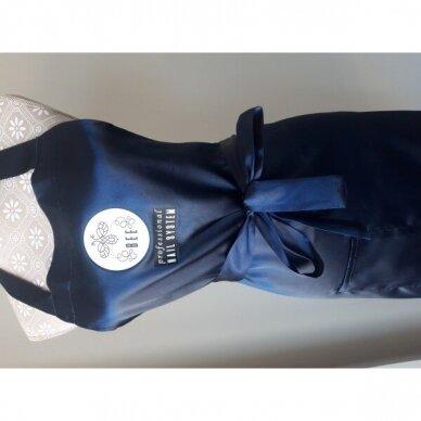 Bee Professionall prijuostė, ilgis 104 cm, 100% viskozė, tamsai mėlynos sp. 2