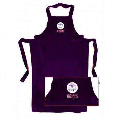 Bee Professionall prijuostė, ilgis 104 cm, 100% viskozė, tamsai violetinės sp.
