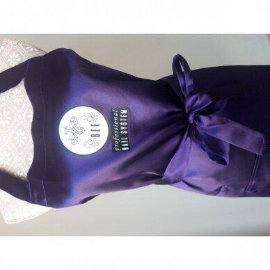 Bee Professionall prijuostė, ilgis 104 cm, 100% viskozė, tamsai violetinės sp. 2