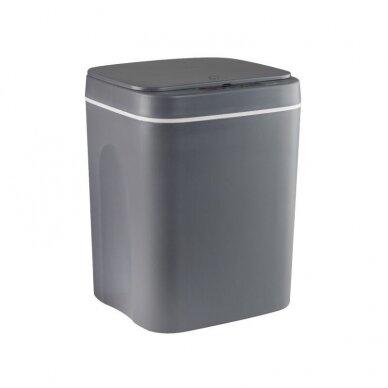 Bekontaktė šiukšlių dėžė 12L, pilkos sp.