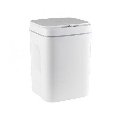 Bekontaktė šiukšlių dėžė 14L, baltos sp.