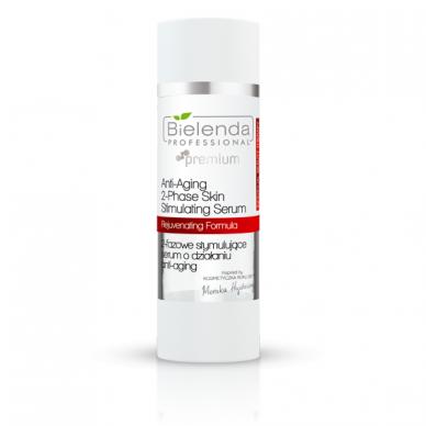 Bielenda Individual Beauty Therapy, 2 fazių stimuliuojantis veido serumas Anti-Age, 15 ml